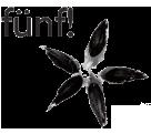 Logo fünf! concept store - ein Apfelgehäuse