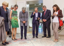 die neue Direktorin der Badener Museen Ulli Scholda bei der Gartensommereröffnung in fabrari