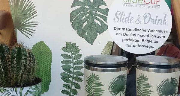 bamboo becher slide-cup