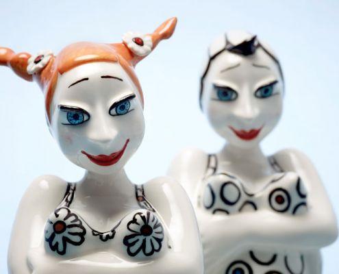 bonanza - die badenden - keramik